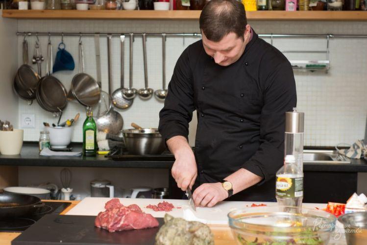 Мастер класс для поваров, о тонкостях работы с мясом. , Al Cuisine кулинарная школа, 2 февраля 2014 года Ресторанные заметки