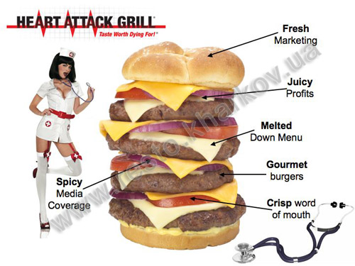 heart attack grill nutrition information